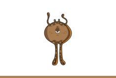 Śliczny brown potwór smutny Fotografia Royalty Free