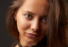 Śliczny brunetki headshot Obraz Royalty Free