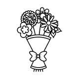 Śliczny bukiet kwiat natury ikona Fotografia Stock