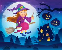 Śliczny czarownica tematu wizerunek 5 Zdjęcie Royalty Free