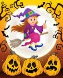 Śliczny czarownica tematu wizerunek 6 Zdjęcia Royalty Free