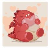 Śliczny czerwony potwór Zdjęcia Stock