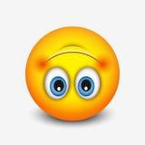 Śliczny do góry nogami twarzy emoticon, emoji - wektorowa ilustracja Obraz Royalty Free