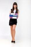 śliczny dokumentów dziewczyny biuro Zdjęcia Stock