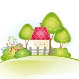 Śliczny dom Obrazy Royalty Free