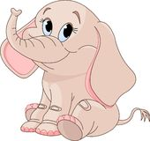 śliczny dziecko słoń Obrazy Royalty Free