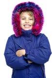 Śliczny dziewczyny zimy portret Zdjęcia Stock