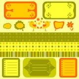 śliczny elementów wzorów scrapbook bezszwowy Ilustracja Wektor
