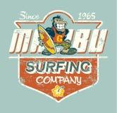 Śliczny goryla surfingowiec Zdjęcie Royalty Free