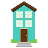 Śliczny i Kolorowy Odosobniony wektoru dom ilustracja wektor