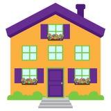 Śliczny i Kolorowy Odosobniony wektoru dom ilustracji