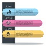 Śliczny infographic dla kobieta produktu Obraz Stock