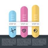 Śliczny infographic dla kobieta produktu Zdjęcie Stock