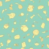 Śliczny kitchenware wzór Zdjęcie Royalty Free