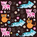 Śliczny kota wzór Fotografia Royalty Free