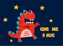 śliczny kreskówka dinosaur ilustracja wektor