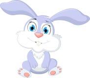 Śliczny kreskówka królika obsiadanie Obrazy Stock