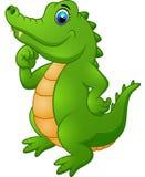 Śliczny kreskówka krokodyl Zdjęcia Royalty Free