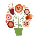 Śliczny kreskówka kwiatu drzewo Zdjęcia Royalty Free