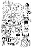 śliczny kreskówka potwór Royalty Ilustracja