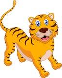 śliczny kreskówka tygrys Zdjęcia Royalty Free