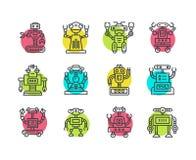 Śliczny Kreskowy robot Obraz Stock