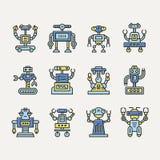 Śliczny Kreskowy robot Obrazy Royalty Free