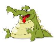 Śliczny krokodyl który bad Zdjęcia Stock