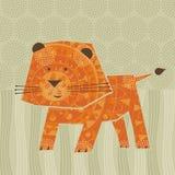 Śliczny lew Obrazy Royalty Free