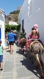 Śliczny miasto w Grecja Obrazy Royalty Free