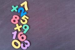 Śliczny numerowy kolorowy set Zdjęcie Royalty Free