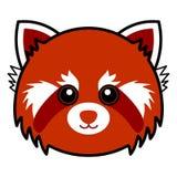 śliczny pandy czerwieni wektor Zdjęcie Royalty Free
