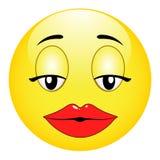 Śliczny plciowy dziewczyny emoticon Obraz Stock