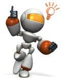 Śliczny robot przychodził up z dobrym pomysłem Obrazy Stock