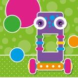 Śliczny robota kartka z pozdrowieniami Obrazy Stock