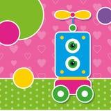 Śliczny robota kartka z pozdrowieniami Zdjęcie Royalty Free