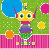 Śliczny robota kartka z pozdrowieniami Fotografia Royalty Free