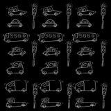 śliczny samochodu wzór Obraz Royalty Free