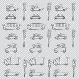 śliczny samochodu wzór Zdjęcia Stock