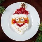 Śliczny Santa blin na bielu talerzu Obrazy Stock