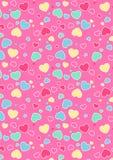 Śliczny serce wzór. Fotografia Royalty Free