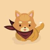 Śliczny Shiba Inu pies Zdjęcia Royalty Free
