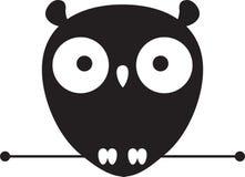 Śliczny sowa logo ilustracja wektor