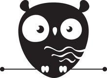 Śliczny sowa logo ilustracji