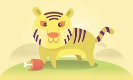 Śliczny tygrys w lasowej Wektorowej ilustraci Obraz Royalty Free