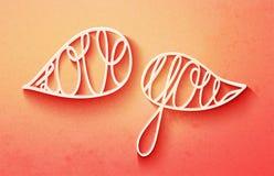 Śliczny valentines dnia literowanie, kocha ciebie słowa w mowa bąblach Obrazy Stock