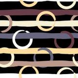 Śliczny wektorowy geometryczny bezszwowy wzór Polka lampasy i kropki odszukany uderzenie abstrakcjonistyczna szczotkarska malując Fotografia Stock