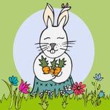 Śliczny wektorowy królik Zdjęcie Royalty Free