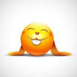 Śliczny Wielkanocnego królika emoticon, emoji - wektorowa ilustracja Obraz Royalty Free