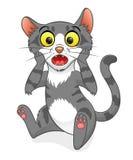 Śliczny zdziwiony kot ilustracja wektor